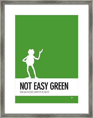 No25 My Minimal Color Code Poster Kermit  Framed Print