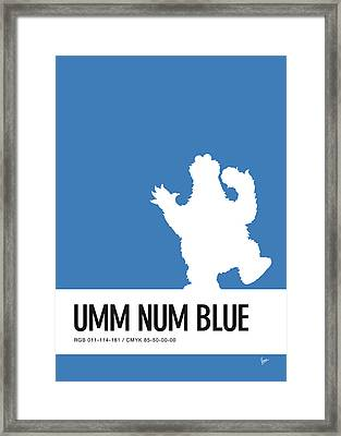No29 My Minimal Color Code Poster Cooky  Framed Print