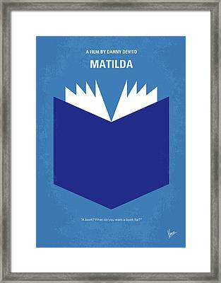 No291 My Matilda Minimal Movie Poster Framed Print