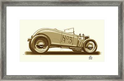 No.3 Framed Print