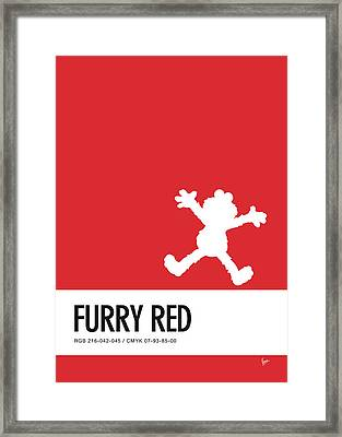 No30 My Minimal Color Code Poster Elmo Framed Print