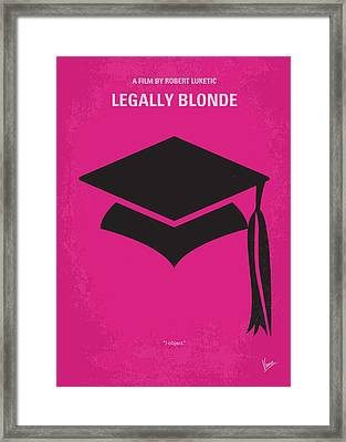 No301 My Legally Blonde Minimal Movie Poster Framed Print