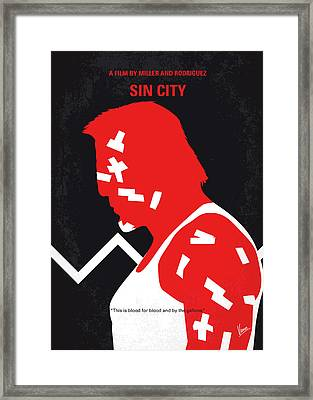 No304-1 My Sin City Minimal Movie Poster Framed Print