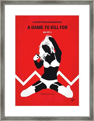 No304-2 My Sin City A Dame To Kill For Minimal Movie Poster Framed Print