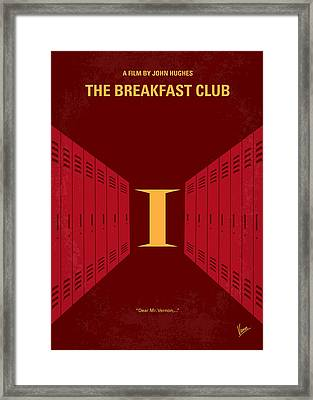 No309 My The Breakfast Club Minimal Movie Poster Framed Print
