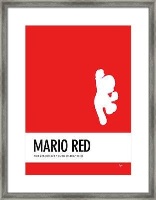 No33 My Minimal Color Code Poster Mario Framed Print by Chungkong Art