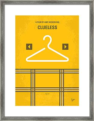 No331 My Clueless Minimal Movie Poster Framed Print by Chungkong Art