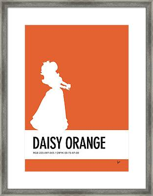 No35 My Minimal Color Code Poster Princess Daisy Framed Print by Chungkong Art