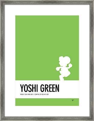No36 My Minimal Color Code Poster Yoshi Framed Print