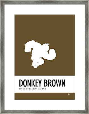 No37 My Minimal Color Code Poster Donkey Kong Framed Print by Chungkong Art