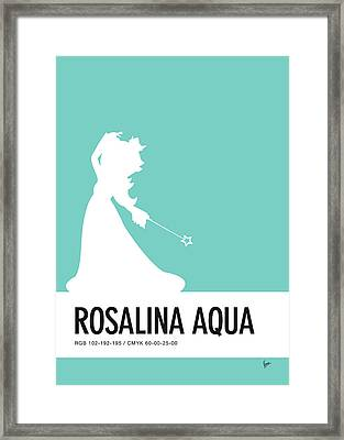 No39 My Minimal Color Code Poster Rosalina Framed Print by Chungkong Art