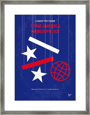 No475 My Team America Minimal Movie Poster Framed Print