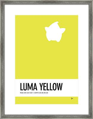 No40 My Minimal Color Code Poster Luma Framed Print by Chungkong Art