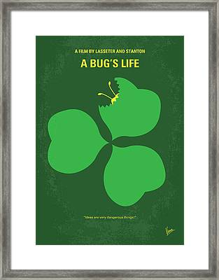 No401 My A Bugs Life Minimal Movie Poster Framed Print by Chungkong Art