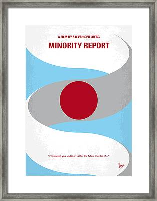 No462 My Minority Report Minimal Movie Poster Framed Print