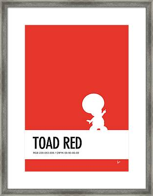 No41 My Minimal Color Code Poster Toad Framed Print by Chungkong Art