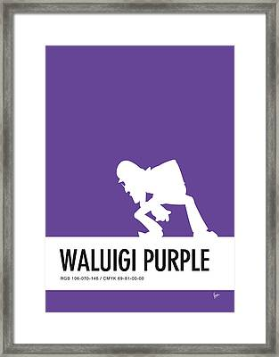 No42 My Minimal Color Code Poster Waluigi Framed Print by Chungkong Art
