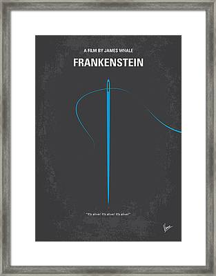 No483 My Frankenstein Minimal Movie Poster Framed Print
