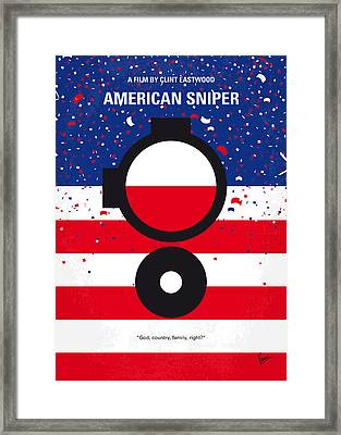 No435 My American Sniper Minimal Movie Poster Framed Print by Chungkong Art