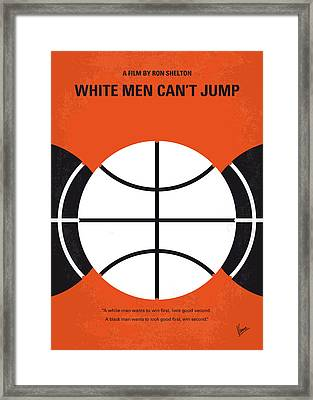 No436 My White Men Cant Jump Minimal Movie Poster Framed Print