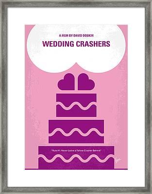 No437 My Wedding Crashers Minimal Movie Poster Framed Print by Chungkong Art