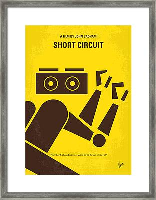 No470 My Short Circuit Minimal Movie Poster Framed Print