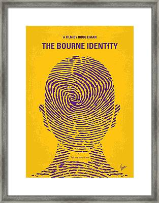 No439 My The Bourne Identity Minimal Movie Poster Framed Print by Chungkong Art
