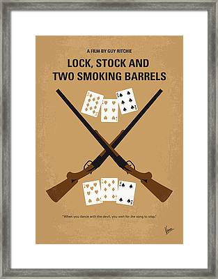 No441 My Lock Stock And Two Smoking Barrels Minimal Movie Poster Framed Print