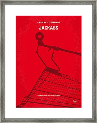 No444 My Jackass Minimal Movie Poster Framed Print