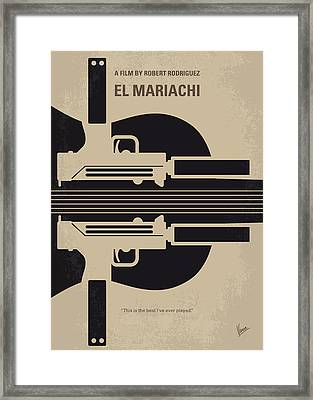 No445 My El Mariachi Minimal Movie Poster Framed Print by Chungkong Art