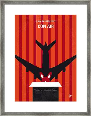 No446 My Con Air Minimal Movie Poster Framed Print by Chungkong Art