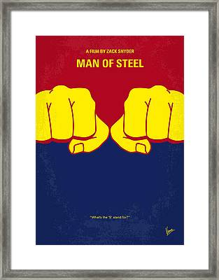 No447 My Men Of Steel Minimal Movie Poster Framed Print by Chungkong Art