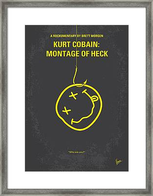 No448 My Montage Of Heck Minimal Movie Poster Framed Print