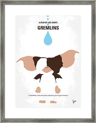 No451 My Gremlins Minimal Movie Poster Framed Print
