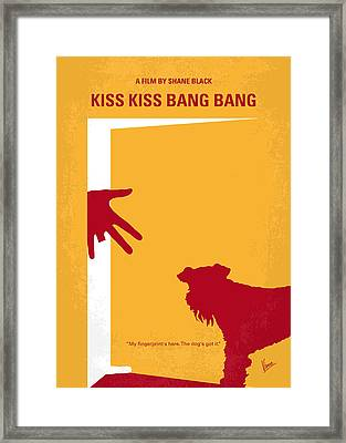 No452 My Kiss Kiss Bang Bang Minimal Movie Poster Framed Print by Chungkong Art