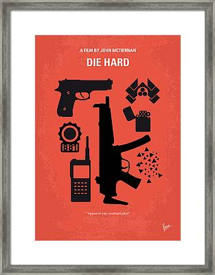 No453 My Die Hard Minimal Movie Poster Framed Print