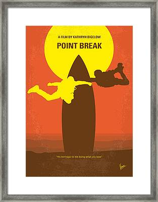 No455 My Point Break Minimal Movie Poster Framed Print