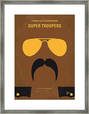 No459 My Super Troopers Minimal Movie Poster Framed Print by Chungkong Art