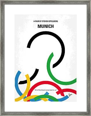 No460 My Munich Minimal Movie Poster Framed Print by Chungkong Art