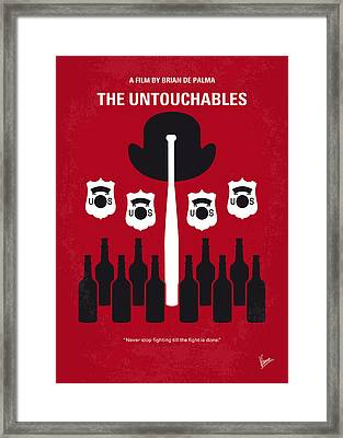 No463 My The Untouchables Minimal Movie Poster Framed Print by Chungkong Art
