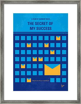 No464 My The Secret Succes Minimal Movie Poster Framed Print