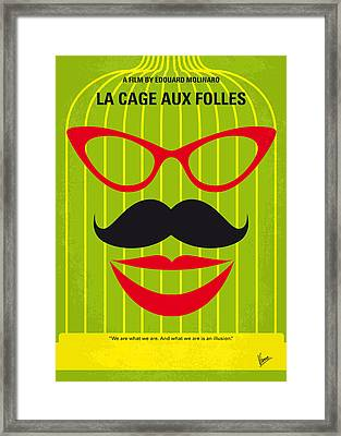 No473 My La Cage Aux Folles Minimal Movie Poster Framed Print