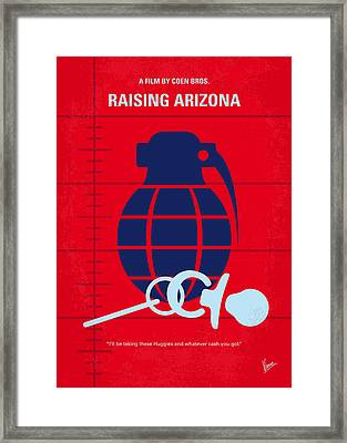 No477 My Raising Arizona Minimal Movie Poster Framed Print by Chungkong Art