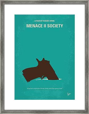 No484 My Menace II Society Minimal Movie Poster Framed Print by Chungkong Art