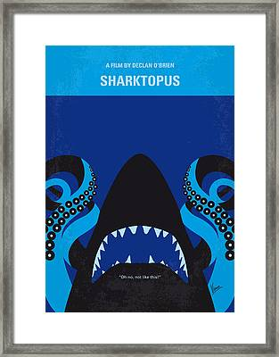 No485 My Sharktopus Minimal Movie Poster Framed Print