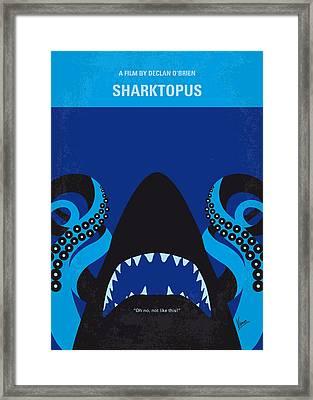 No485 My Sharktopus Minimal Movie Poster Framed Print by Chungkong Art