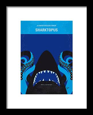 Reef Shark Framed Prints