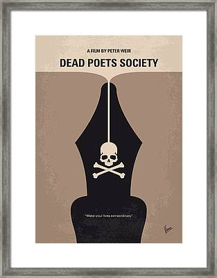 No486 My Dead Poets Society Minimal Movie Poster Framed Print by Chungkong Art