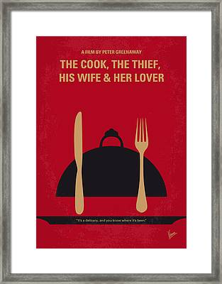 No487 My The Cook The Thief His Wife And Her Lover Minimal Movie Framed Print by Chungkong Art