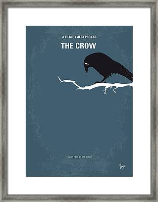 No488 My The Crow Minimal Movie Poster Framed Print